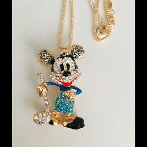 Mickey Mouse playing golf necklace